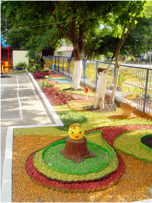 Благоустройство площадки в детском саду своими руками